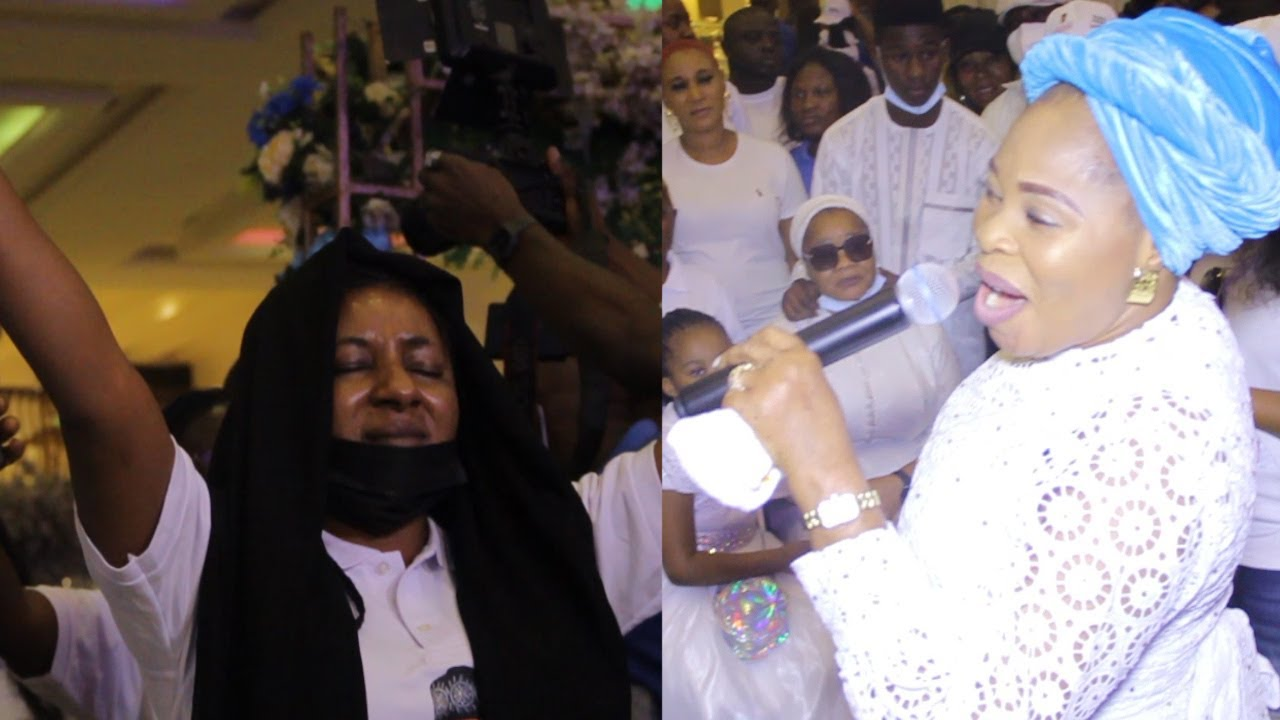 Download SO EMOTIONAL:MIDE MARTINS FEEL EMOTIONAL WITH TOPE ALABI SONG AT BIMBO OSHIN HUSBAND SONG SERVICE