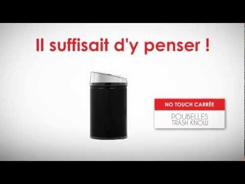 poubelle automatique carr e 30l par myfab youtube. Black Bedroom Furniture Sets. Home Design Ideas