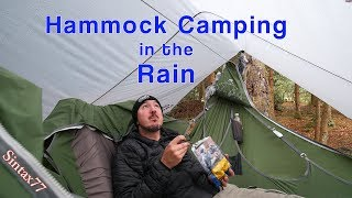 Hammock Camping in the Rain - Cranberry Wilderness Backpacking w/ the Amok Draumr XL