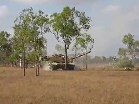 M1A1 tank vs. Australian trees