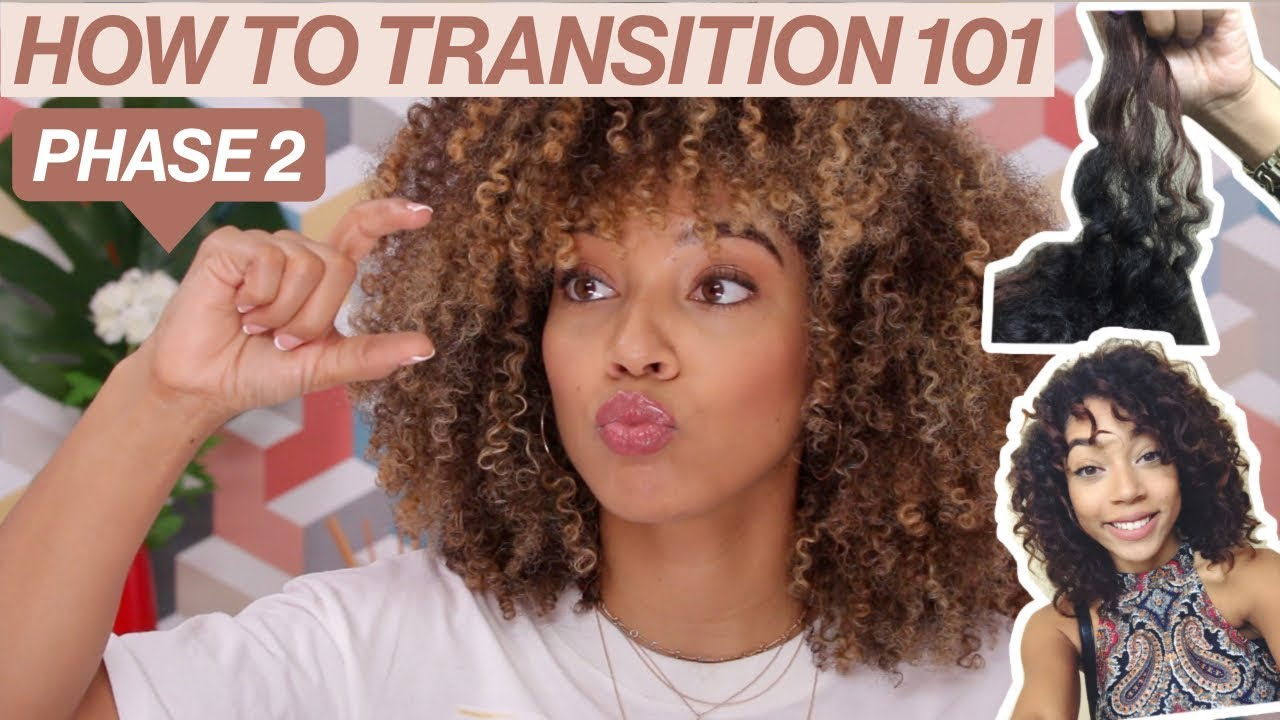 How To Transition To Natural Phase 2 Transitioning Hairstyles Curl Typing Youtube
