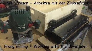 Kiste bauen - Zinkenfräsen - Zinkenfräsgerät - DIY - Helmchen