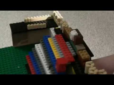 Destroying my Lego Titanic grand staircase