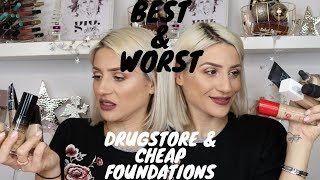FAV (& WORST!) DRUGSTORE & CHEAP FOUNDATIONS || GIO DREVELI ||
