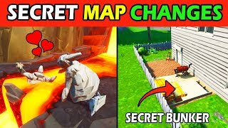 ALL *SECRET* MAP CHANGES! SECRET BUNKER & RUIN SYMBOL! FORTNITE UPDATE v8.5