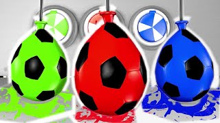Yankee Doodle| Learn Colors with Surprise Soccer Balls #h - Magic Liquids for Children Toddlers
