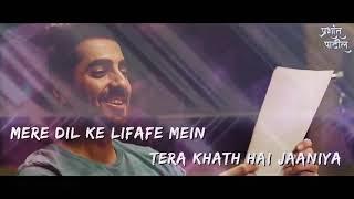 Nazm nazm sa mere | bareilly ki barfi | best  romantic song | Hindi status  lyrics | trailers bash