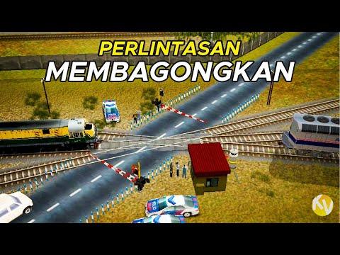 PERLINTASAN MEMBAGONGKAN 🤧 | Trainz Simulator Indonesia