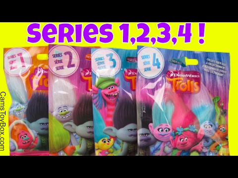 Trolls Series 1 2 3 4 Blind Bags Dreamworks Surprise Toys Names Opening Toy Fun for Kids
