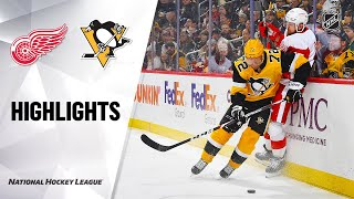 NHL Highlights | Red Wings @ Penguins 2/16/20