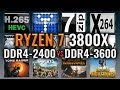 Ryzen 7 3800X – DDR4 Performance Scaling – 2400 Mhz vs 3600 Mhz