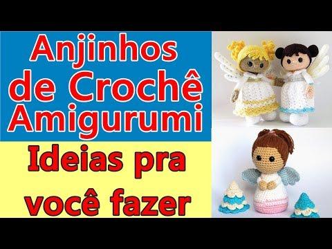Anjinhos De Crochê Amigurumi (Ideias De Crochê Para Artesãs Fazer Em Casa) Crochet Amigurumi Angel