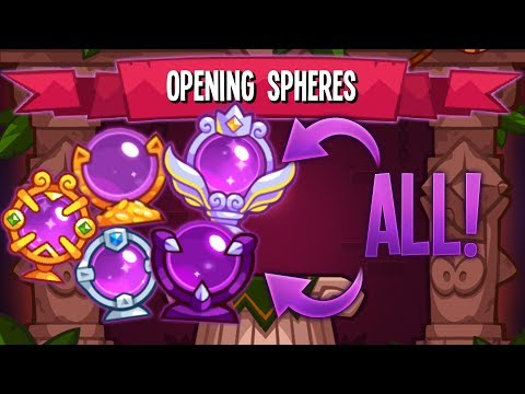 OPENING ALL SPHERE'S IN KING OF THIEVES! *wasted 2000 orbs* | King of Thieves