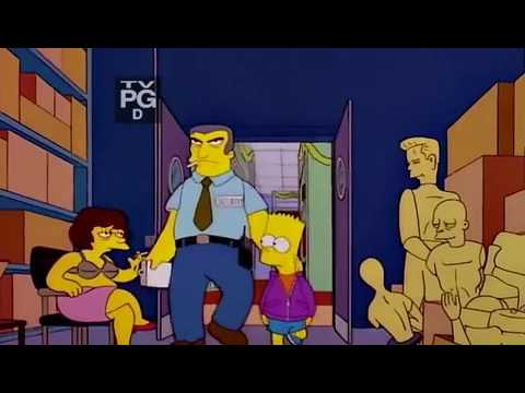 Bart gets caught shoplifting