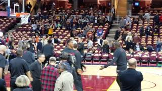 10/30 /2015 CAVS vs Heat. Teams come on court