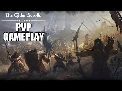 The Elder Scrolls Online PVP Gameplay - TESO Player VS Player PC With Commentary