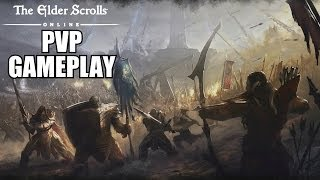 The Elder Scrolls Online Multiplayer Gameplay PVP - TESO Player VS Player PC With Commentary