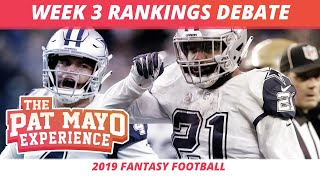 2019 Fantasy Football Week 3 Rankings Debate - Start, Sit, Sleepers & Debate