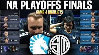 TL vs TSM Game 4 Highlights LCS Playoffs Final - Team Liquid vs Team SoloMid Game 4 Highlights LCS