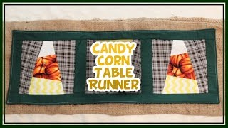Diy Candy Corn Table Runner - Whitney Sews