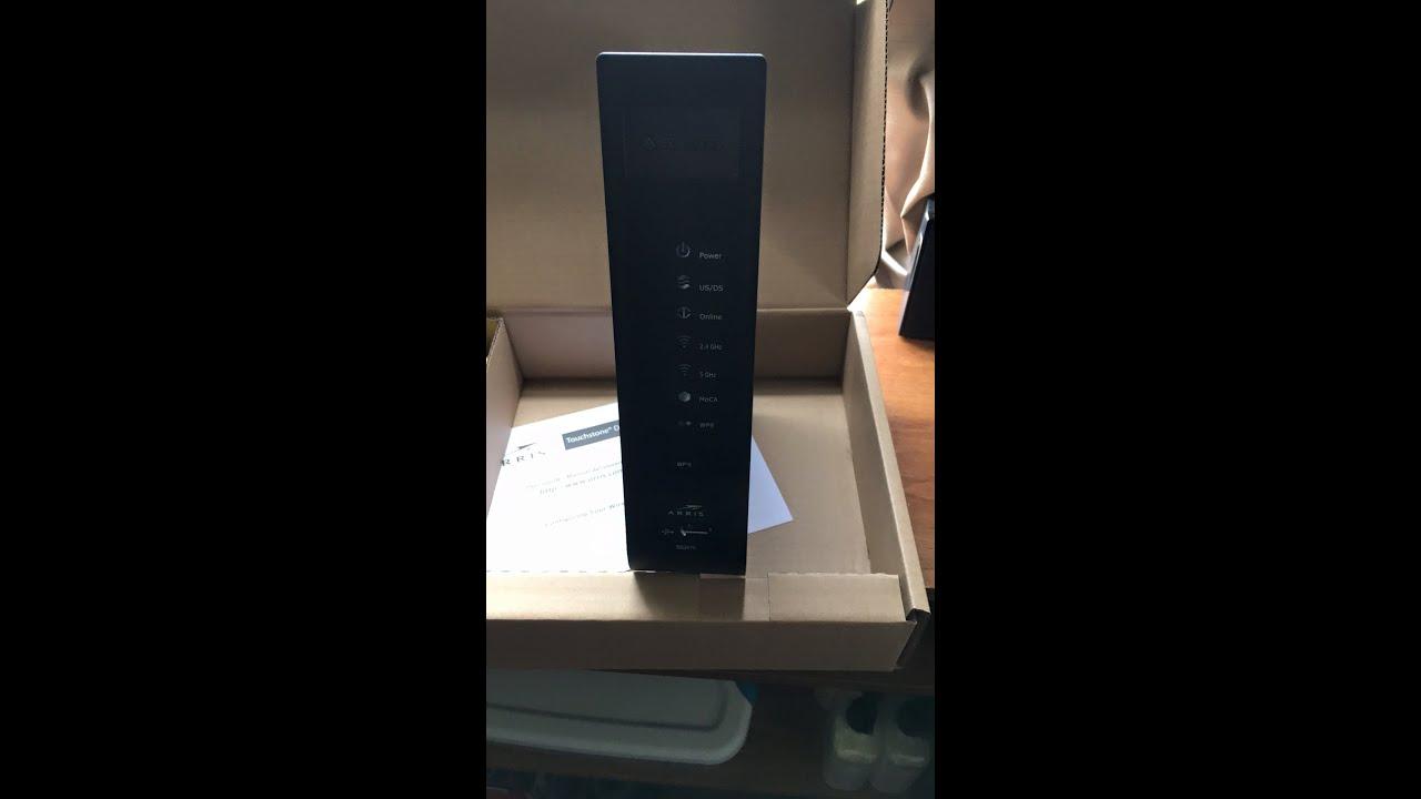 arris dg2470a cable modem unboxing youtube
