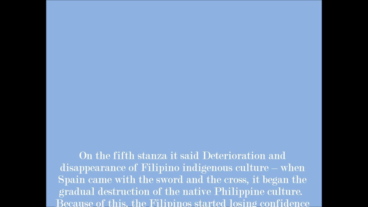 to the philippine youth by jose rizal