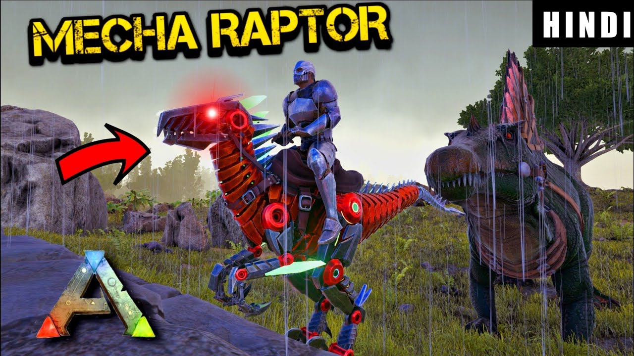 Download I FOUND THE RARE MECHA RAPTOR !   ARK Survival Evolved DAY 12 In HINDI    IamBolt Gaming