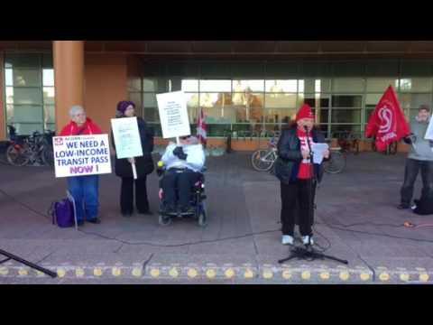 Ottawa ACORN low income transit pass rally