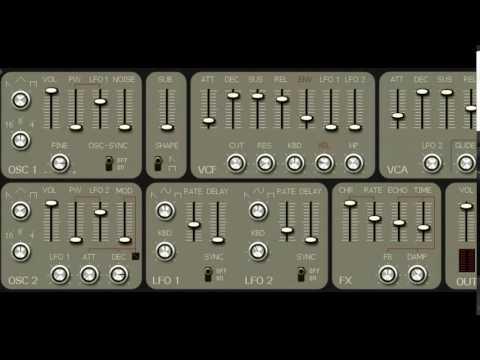 Roland SH-7 Analog Synthesizer VST Emulation