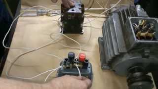 видео Как подключить магнитный пускатель и тепловое реле