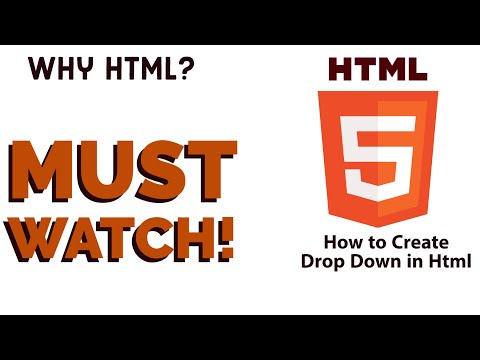 HTML Tutorial 2020 : How To Create Drop Down