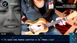 Muerte en Hawaii CALLE 13 Ukulele Cover Letra | Tutorial Demo Christianvib