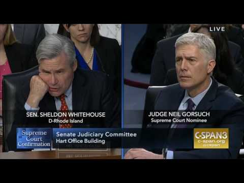Sheldon Whitehouse Questions Neil Gorsuch 03:21:17