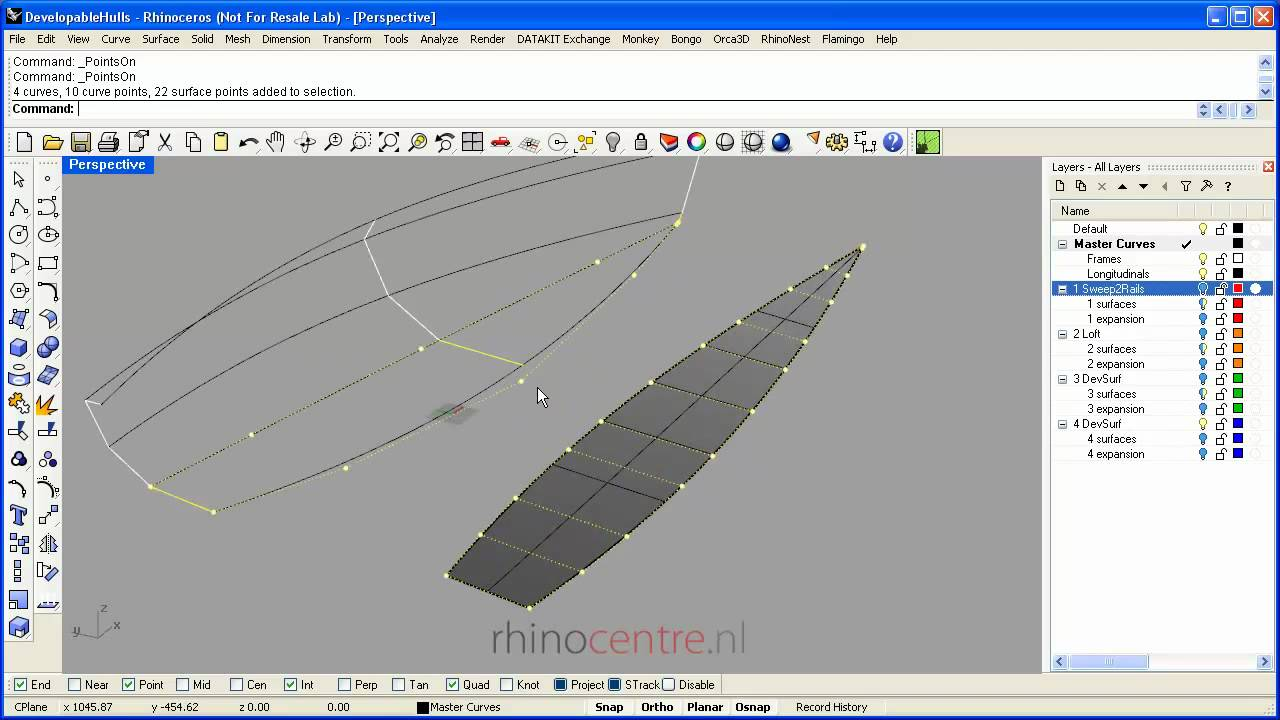 Tutorial 1 Developable Hull Shapes In Rhino3d Youtube