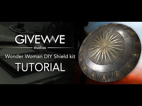 Wonder Woman movie Shield DIY kit ( TUTORIAL )