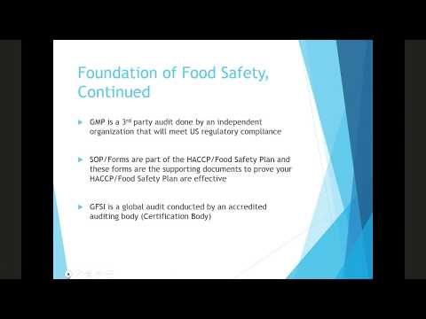 Food Safety Compliance Webinar August 2017