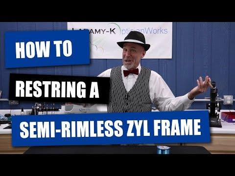 Optician Tip: Restring A Semi-Rimless Plastic Frame