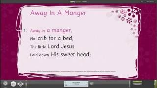 Away In A Manger Assembly Songs from Out of the Ark –Words on Screen - Christmas Carols