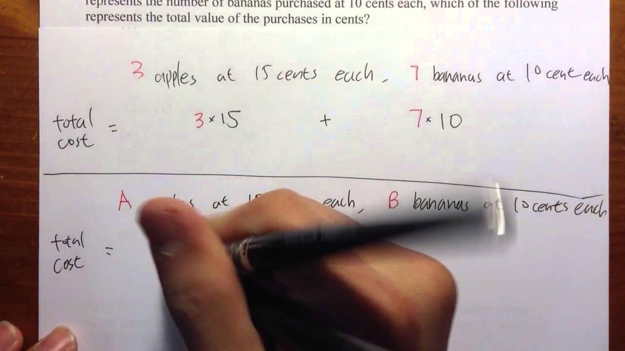 ACCUPLACER] (Q1.) Elementary Algebra Official Practice Problems ...