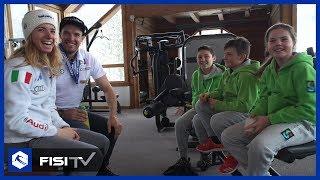 I bambini intervistano Marta Bassino e Christof Innerhofer