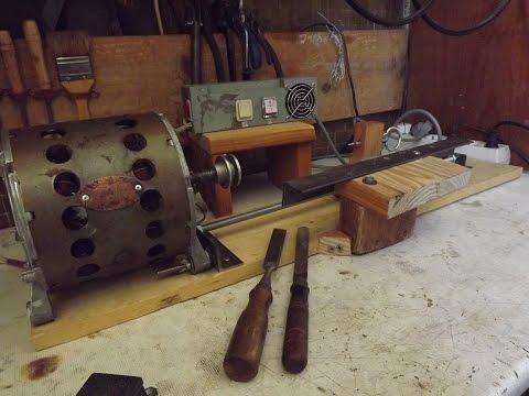 Как сделать простой токарный станок по дереву, homemade simple Wood Lathe!