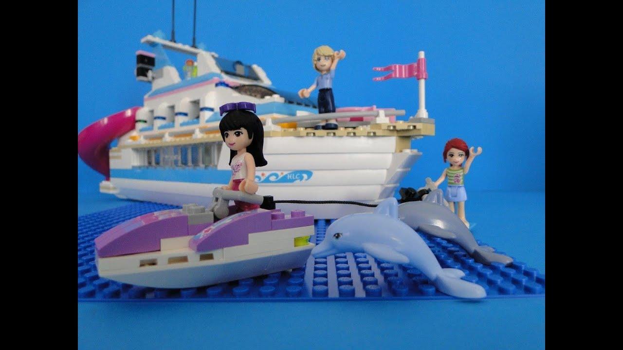 lego friends bateau 41015 yacht youtube. Black Bedroom Furniture Sets. Home Design Ideas