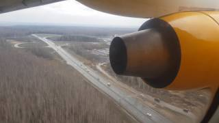 Antonov An-148 landing in international airport Domodedovo (Moscow (DME) RA-61704