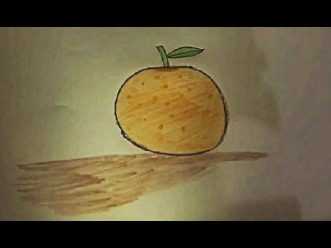Portakal Nasıl çizilir How To Draw Orange Youtube