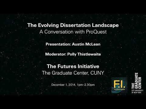 Trailer: The Evolving Dissertation Landscape