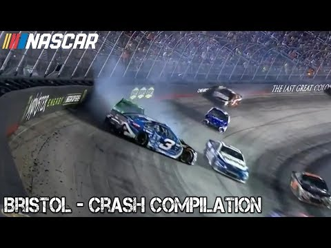 Nascar - 2017 - Bristol - Crash Compilation