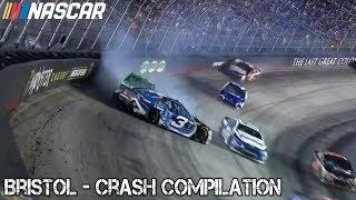 Nascar - 2017 - Bristol - Crash Compilation