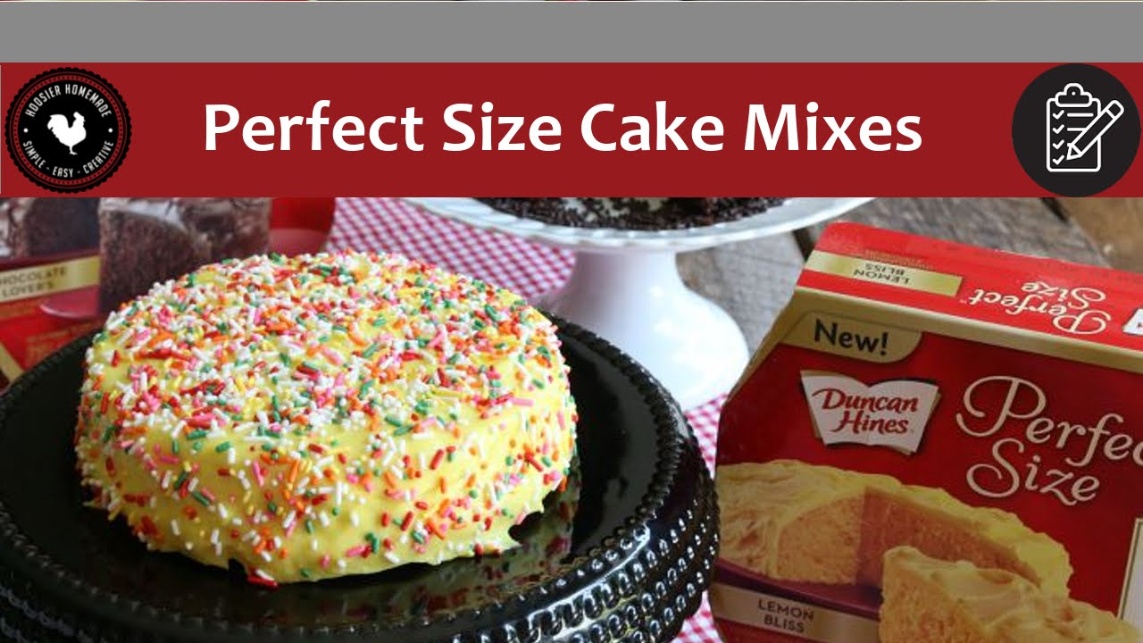 Duncan Hines Perfect Size Cake Mixes - Product Review - YouTube
