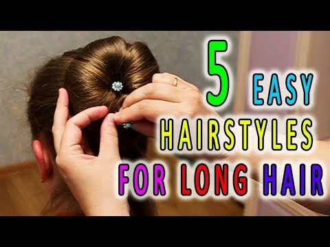 5 Easy Hairstyles for Long Hair 🌺 Best Hairstyles for Girls