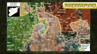 Бои на севере Сирии февраль-май 2016г. Деблокада Нубль, Аль-Захра. Бои курдов Мареа и Азаз.